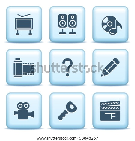 Icons with blue buttons 28