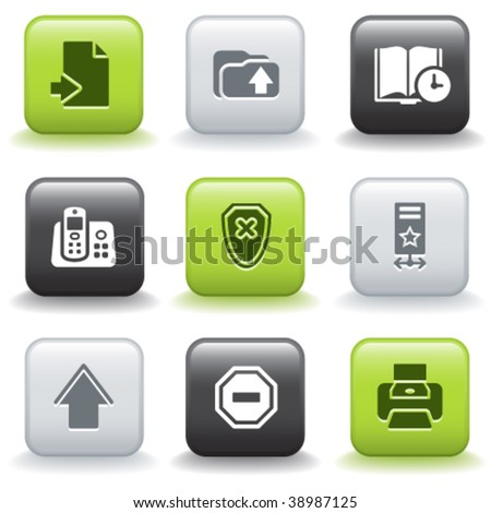 Icons with buttons 4