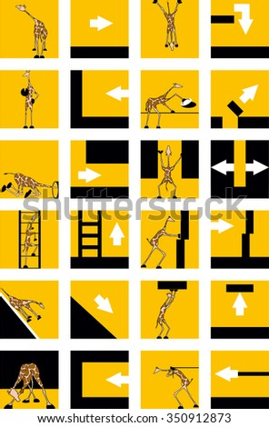 icons with giraffes and