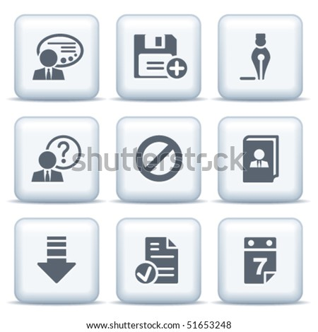Icons with gray buttons 2