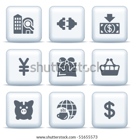 Icons with gray buttons 24
