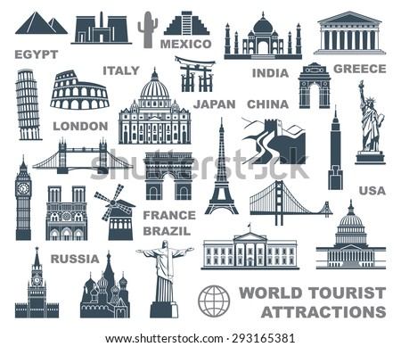 icons world tourist attractions