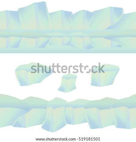 icy cliff  iceberg  isolated