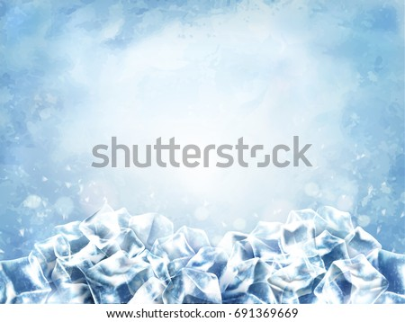 icy cube background  abstract