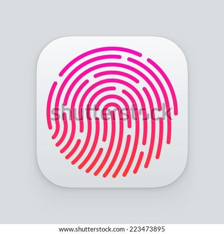 ID app icon. Fingerprint vector illustration