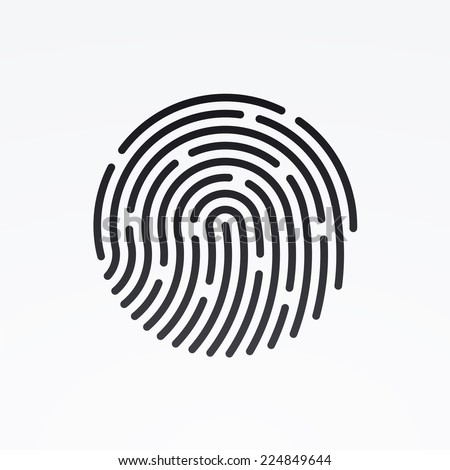 id app icon fingerprint vector