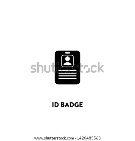 id badge icon vector. id badge sign on white background. id badge icon for web and app