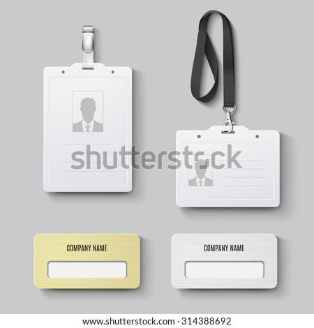 id badge. Vector set