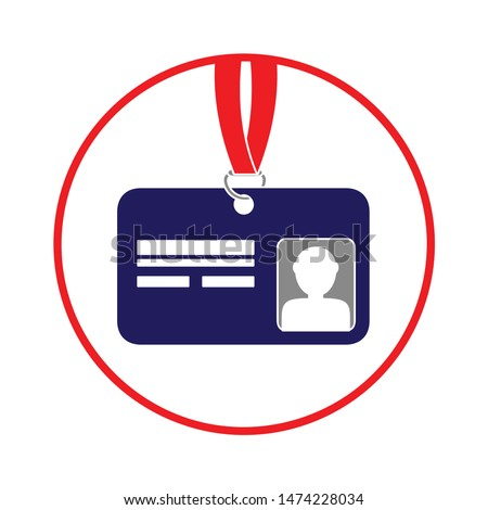id-card icon. flat illustration of id-card vector icon. id-card sign symbol