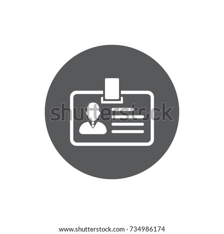 ID Card Icon. User with identity profile vector illustration on white background.