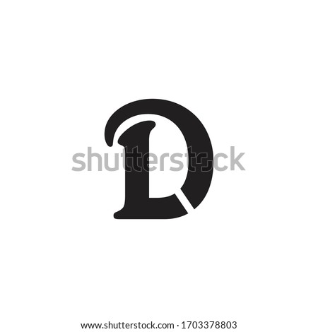 id letter vector sign logo. l d letter vector logo Stock fotó ©