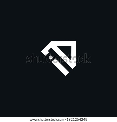 ID or DI initial based creative unique icon based logo for brands Foto d'archivio ©