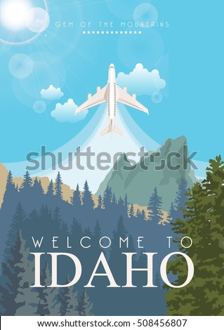 idaho vector poster in american