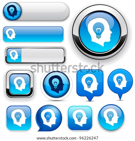 Idea blue design elements for website or app. Vector eps10.