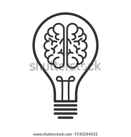 Idea brain bulb innovation think icon Photo stock ©