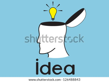 idea bulb in human head
