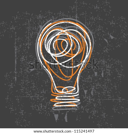 idea bulb on black board