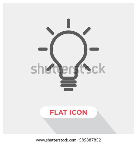 Idea bulb vector icon, creative lamp symbol. Modern, simple flat vector illustration for web site or mobile app