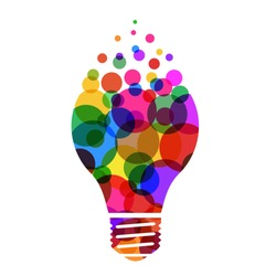 Idea concept, creative bulb sign, innovations. Keep it simple business concept for project management, marketing, creativity – vector