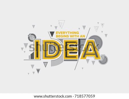 idea concept in modern