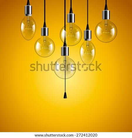idea concept light bulbs