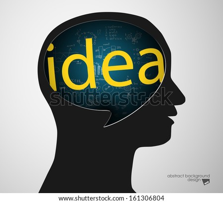idea concept with human head silhouette