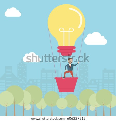 idea concept with lightbulb