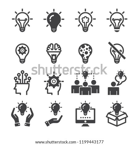 Idea,creative icon set/Flat icon set design ,Out line vector icon set for design.
