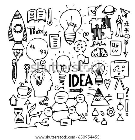 idea doodle sketch vector ink