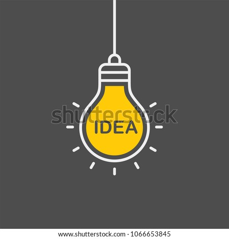 Idea flat vector icon. Lightbulb flat vector icon