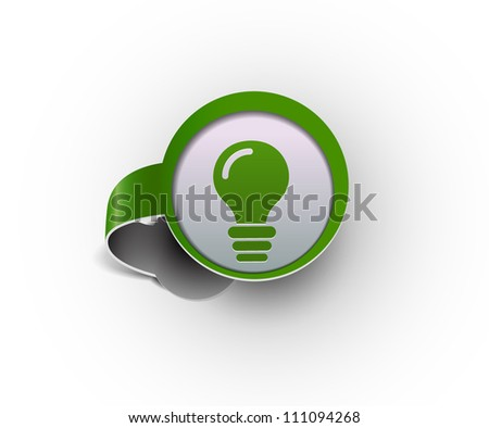 idea hanging sticker icon, vector