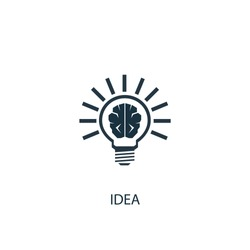 Idea icon. Simple element illustration. Idea symbol design from Entrepreneurship collection. Can be used for web and mobile.