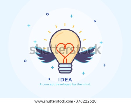 idea icon   thin line flat
