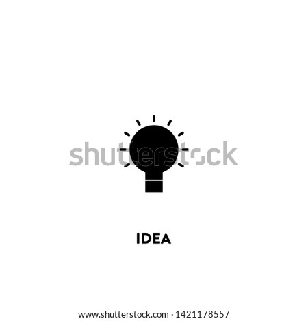 idea icon vector. idea sign on white background. idea icon for web and app