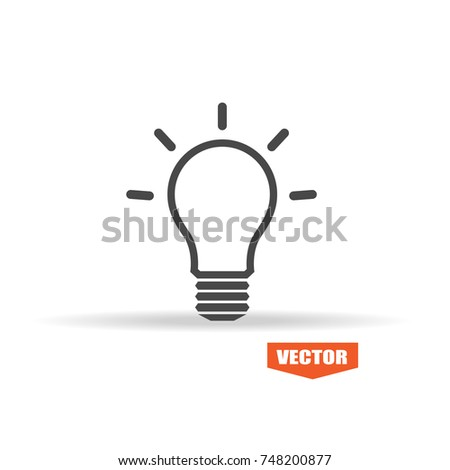 Idea icon vector isolated on white background. Trendy idea icon in flat style. Template for app, ui and logo. Icon idea for your web site. Modern idea icon, EPS 10