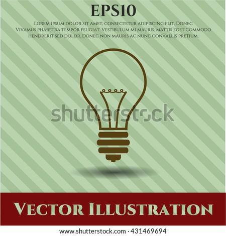 idea icon vector symbol flat eps jpg app web concept website