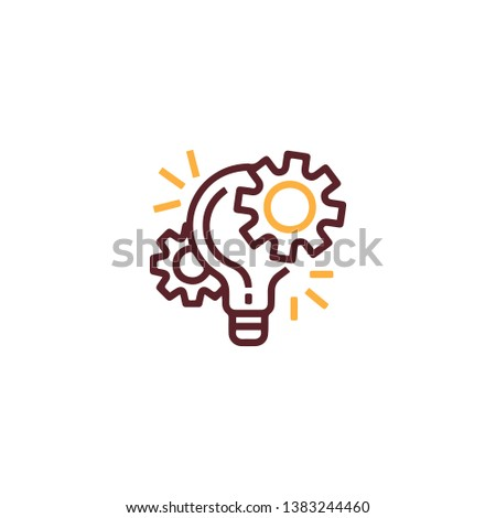 Idea lamp power icon in trendy flat style isolated on white background