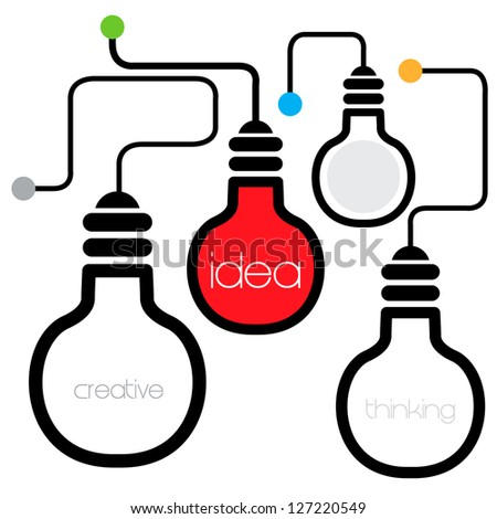 idea light bulb - stock vector