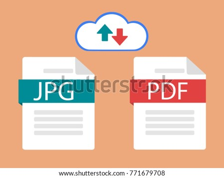 Idea of converting a document. Changing or converting a document to another format. Modern vector illustration in a flat style.