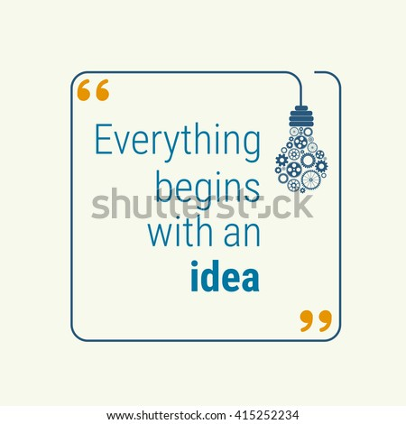 idea quote with light bulb with