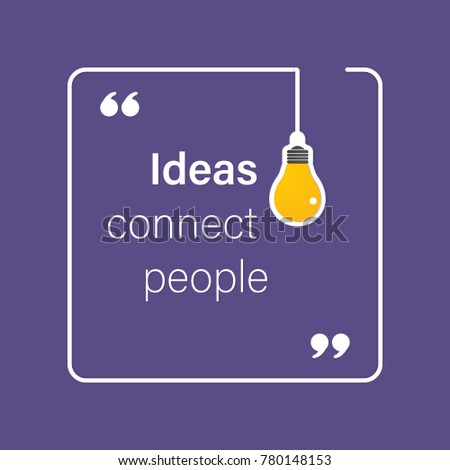 idea quote with light bulb with gears. concept of big ideas inspiration innovation, invention, effective thinking. text. outline. Vector for your design in color of 2018 - stock vector