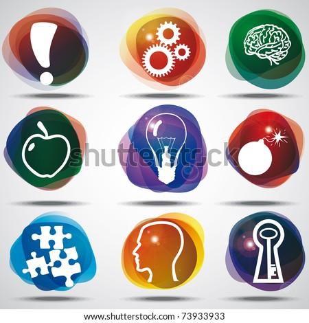 Idea Symbols Set.