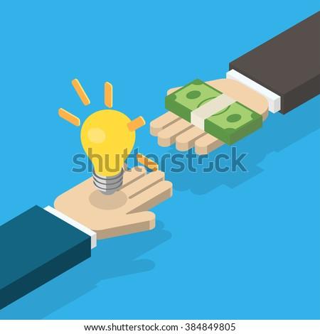 idea trading for money concept