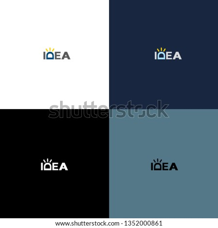 Idea vector logo. Idea icon. Idea inscription