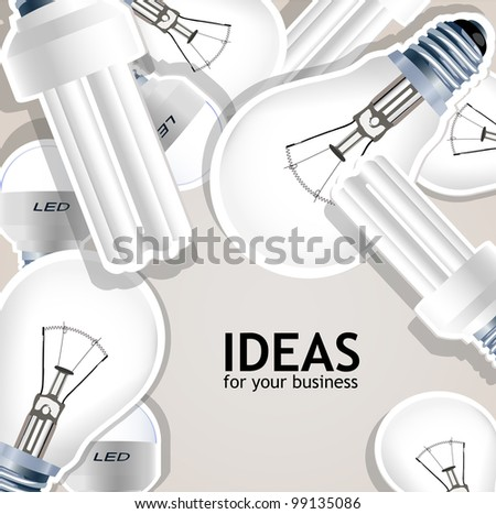 ideas for your business - stock vector