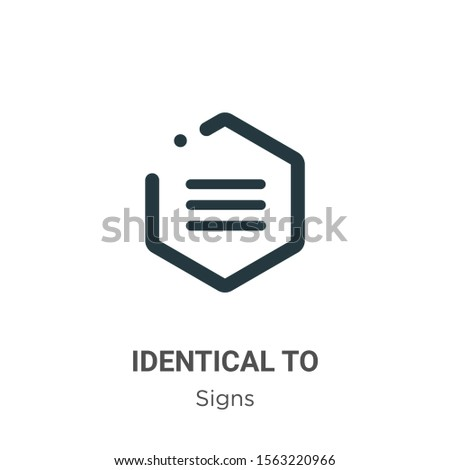 Identical to symbol vector icon on white background. Flat vector identical to symbol icon symbol sign from modern signs collection for mobile concept and web apps design.