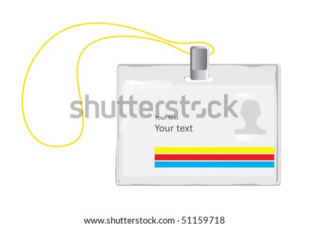 Identification Badge (vector). In the gallery also available XXL jpeg version of this image.