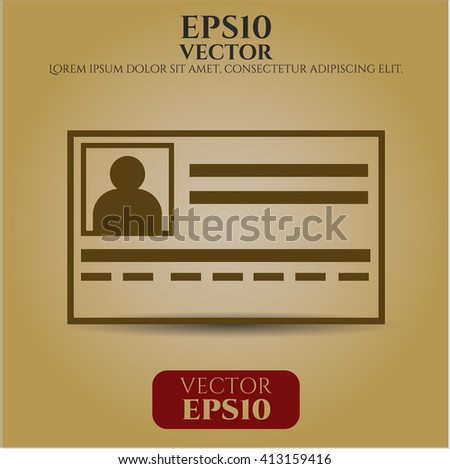 Identification Card high quality icon