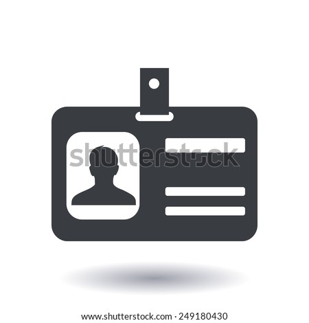 Identification card icon Flat design style EPS 10