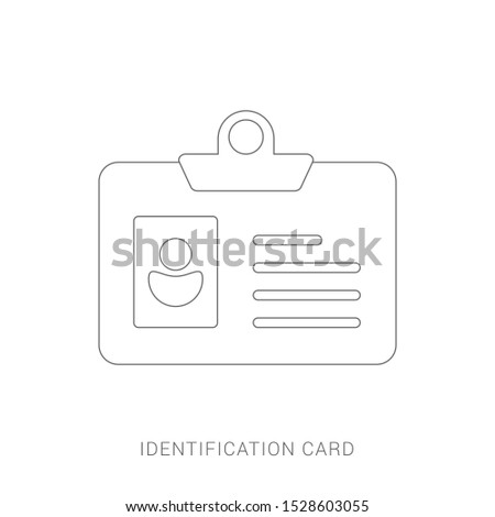 Identification Card icon. flat illustration of Identification Card.